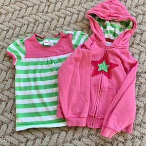 Hanna Andersson sweatshirt and T-shirt set
